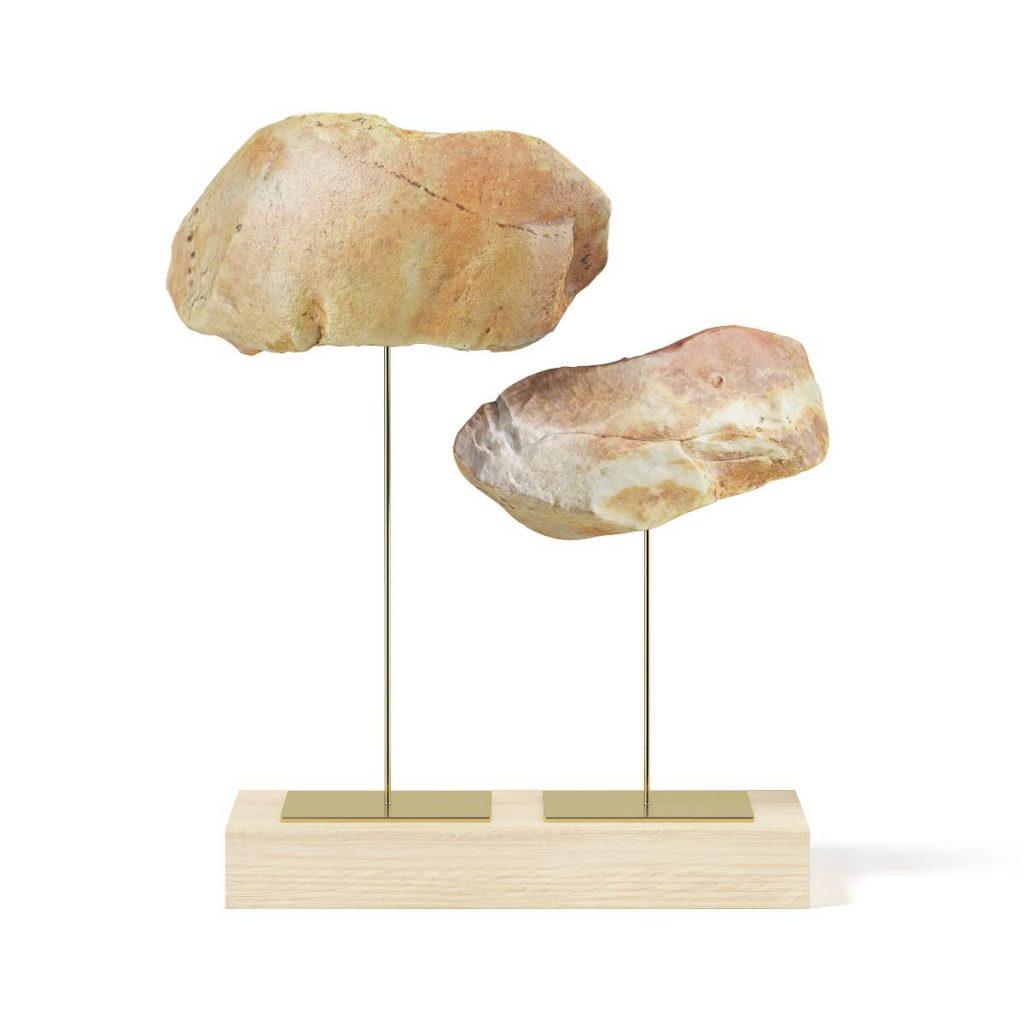 4套岩石-桌面 摆件 日历C4D模型