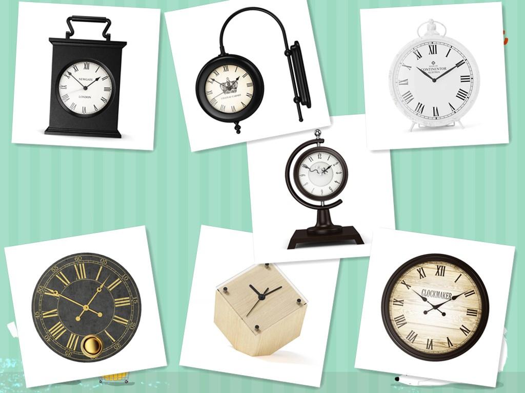 7款 钟表 时钟 摆件C4D模型